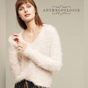 Anthro Knitted & Knotted Soft Snowfrost Sweater XS
